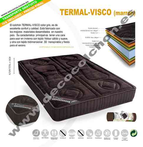 COLCHON TERMAL-VISCO MARRON