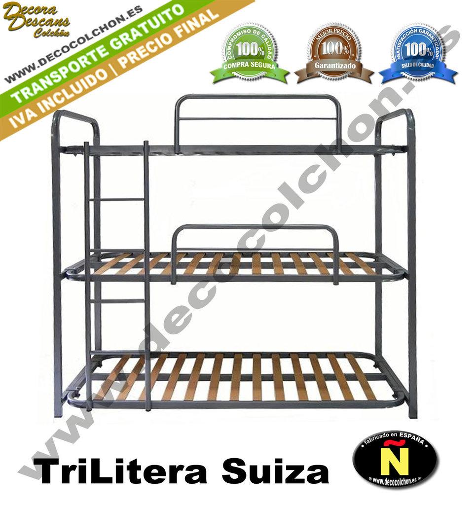 Trilitera suiza somieres bases canap s camas y colchones for Camas 110x200