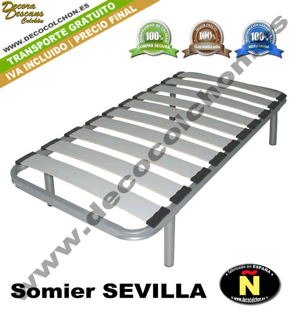Somier sevilla somier base canap camas y colchones for Camas 110x200