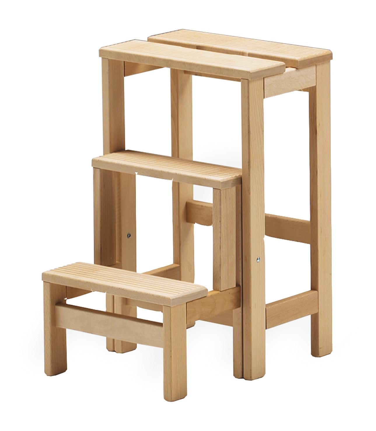 Taburete escalera decora descans complementos mueble hogar - Fabricar escalera de madera ...