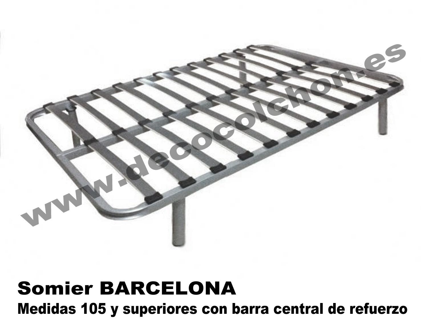 Somier barcelona somier base canap camas y colchones for Camas canape barcelona