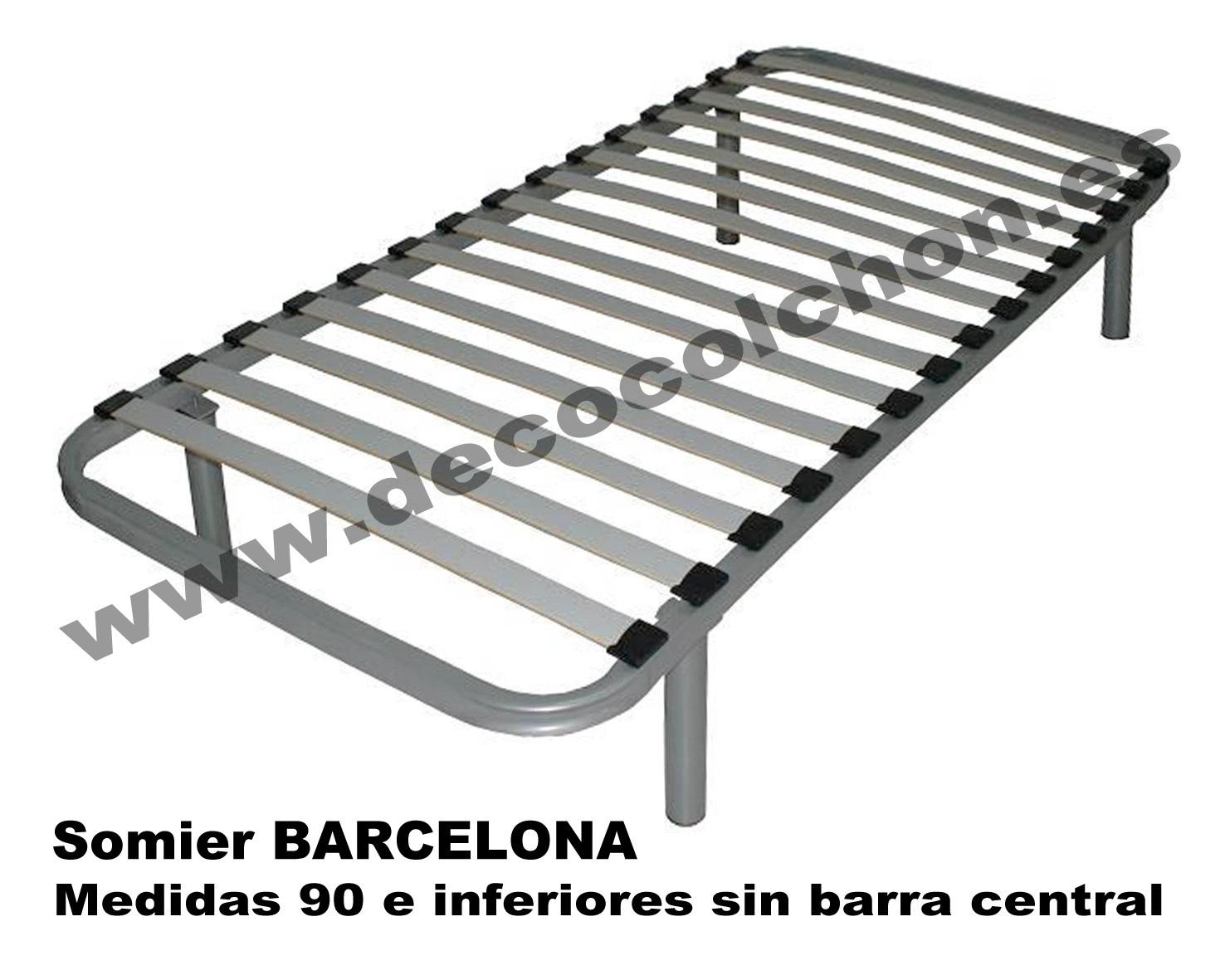 Somier barcelona somier base canap camas y colchones for Camas 110x200
