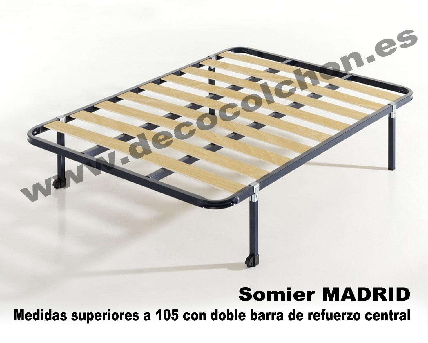 Somier madrid somier base canap camas y colchones for Camas 110x200