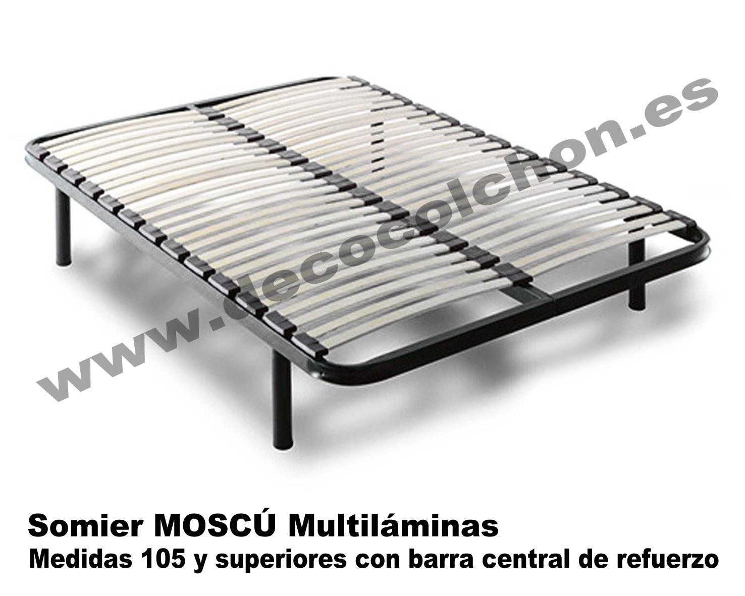 Somier moscu somier base canap camas y colchones for Camas 110x200