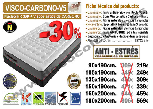 COLCHON VISCO-CARBONO-V5