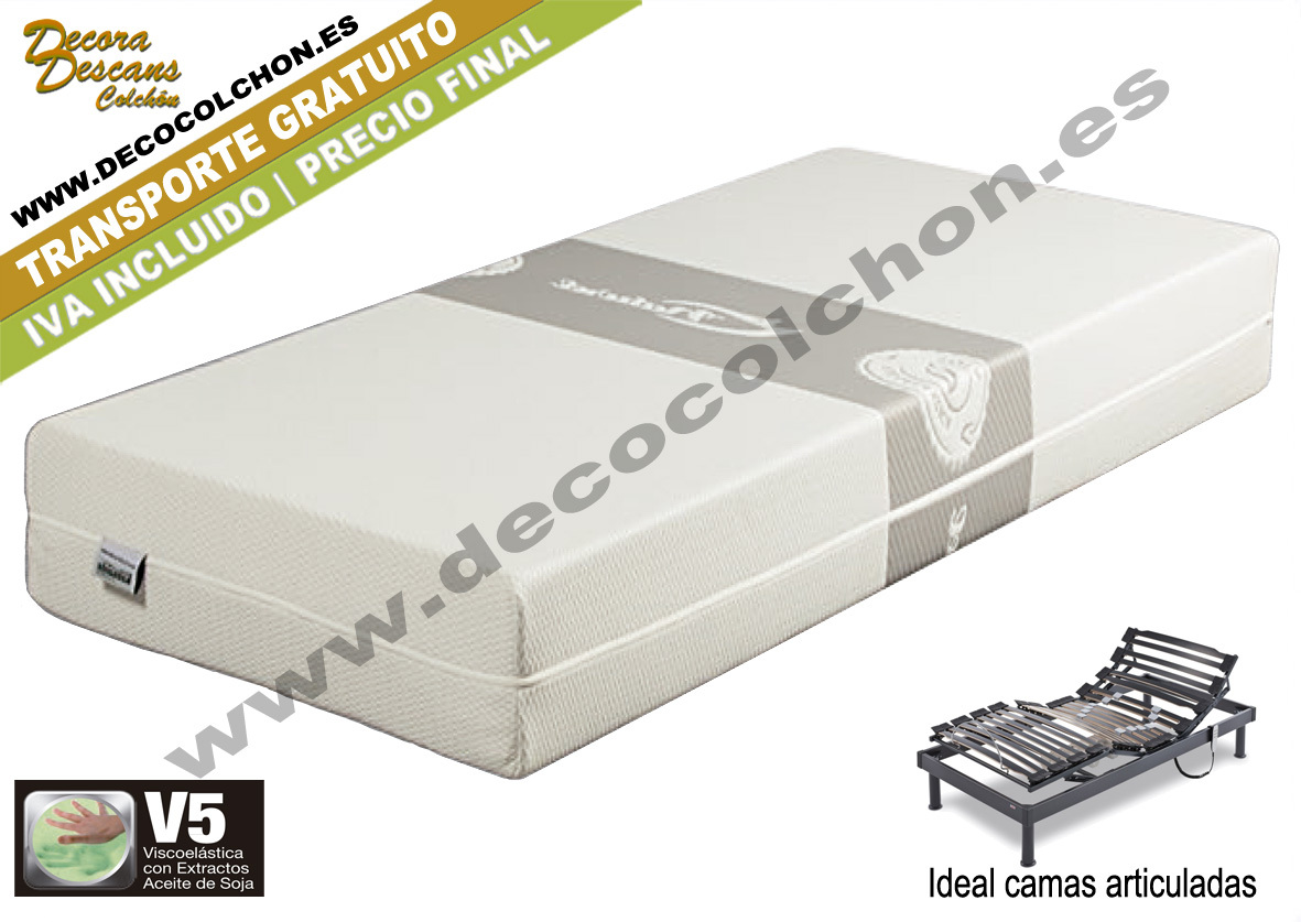 COLCHON ViscoSoja Articulable| Decocolchon Decora Descans