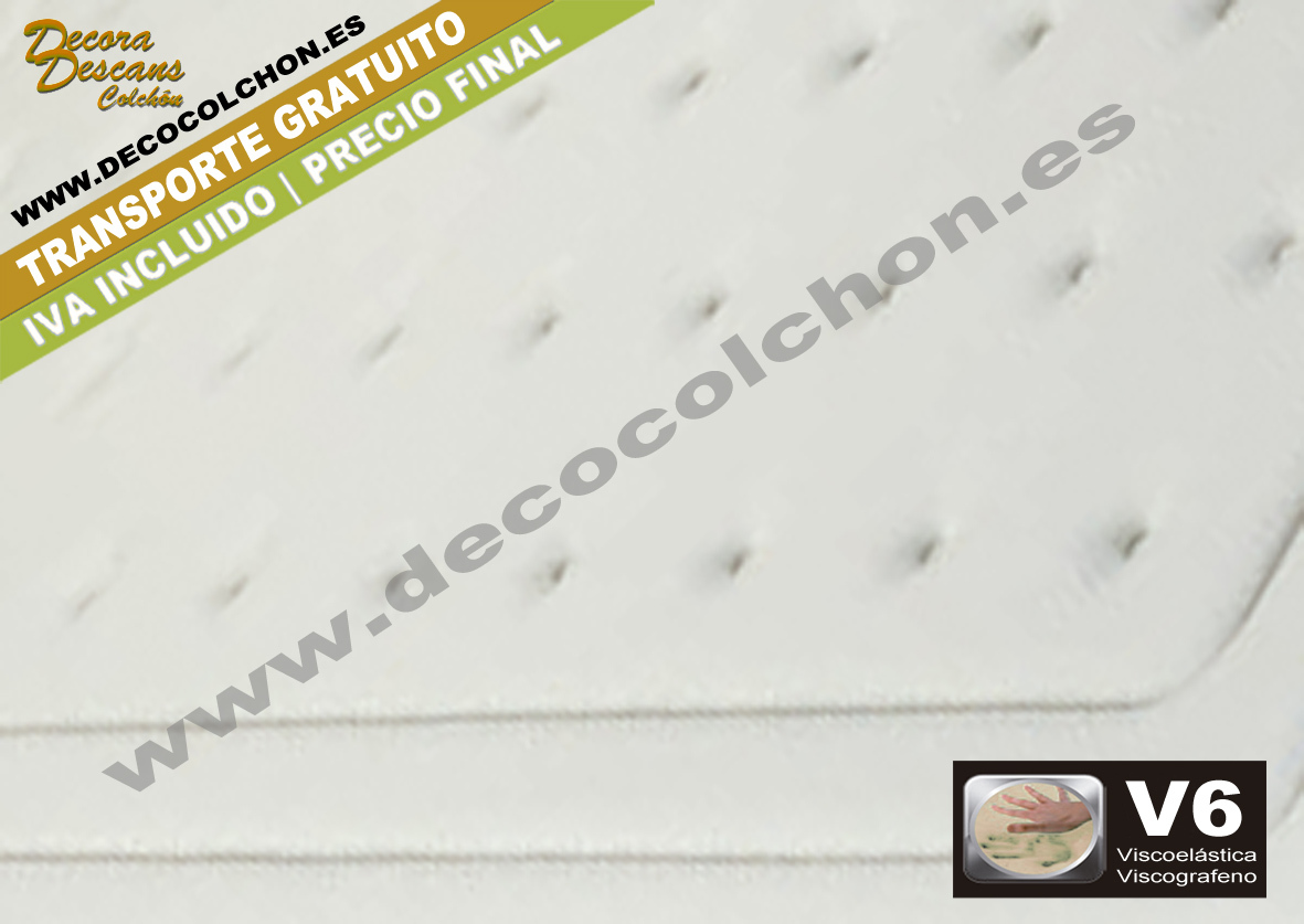 COLCHON Visco-Grafeno-Taupe tejido | Decocolchon Decora Descans