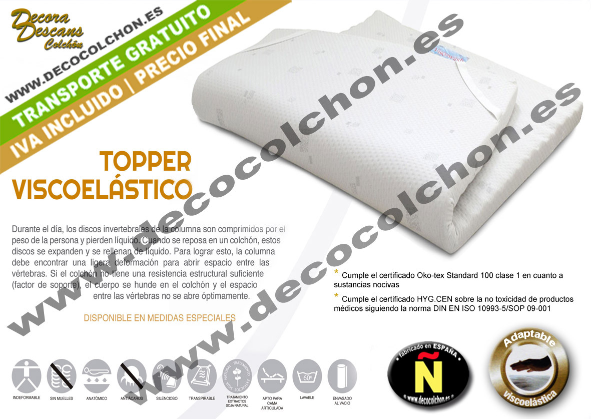 Topper Viscoelástica | Decocolchon Decora Descans