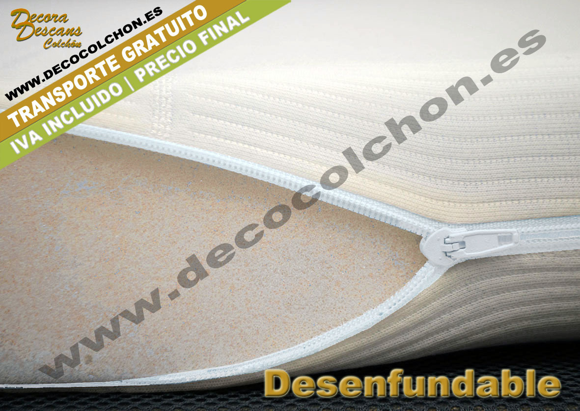 Topper Viscoelastico desenfundable | Decocolchon Decora Descans